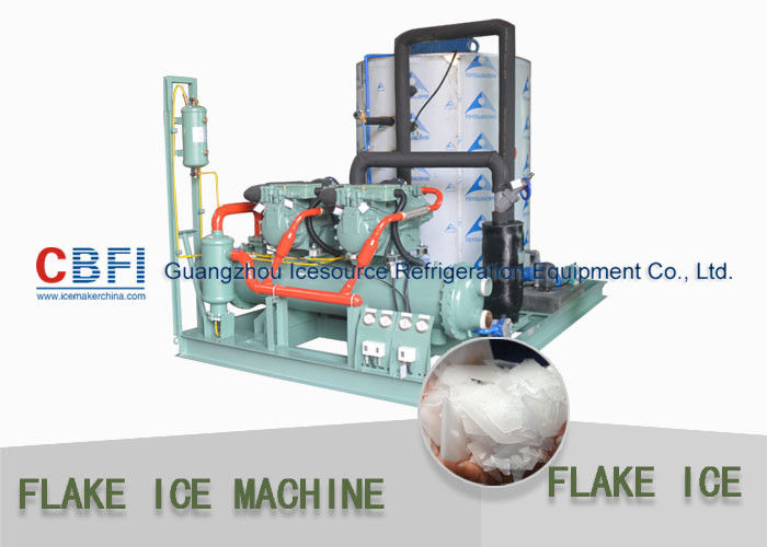 Pharmaceuticals Industrial Flake Ice Machine 1 mm - 2 mm Flake Ice Making Machine